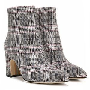 NEW Sam Edelman Hilty 2 Pointed Toe Plaid Boots